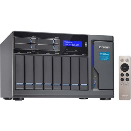 Qnap TVS-1282 12-Bay (8+4) High Performance NAS Enclosure/iSCSI IP-SAN,  i7-7700 Quad-Core 3 6 GHz, 64GB RAM, 450W