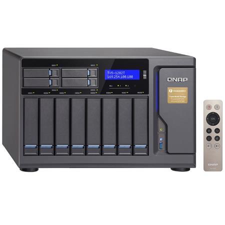 Qnap TVS-1282T 12-Bay Thunderbolt 2 Turbo NAS, 32GB (4x 8GB) RAM, Intel  Core i7-6700 3 4GHz, 32GB DDR4 RAM, 3 5
