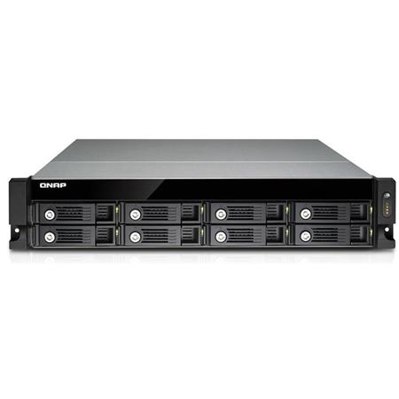 Qnap TVS-871U-RP-I3-4G 8-Bay 2U Rackmount High Performance Unified Turbo  NAS Storage Solution, Intel Core i3-4150 3 5GHz, 4GB RAM, 3 5