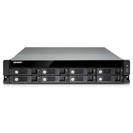 Qnap TVS-871U-RP-I5-8G 8-Bay 2U Rackmount High Performance Unified Turbo  NAS Storage Solution, Intel Core i5-4590S 3 0GHz, 8GB RAM, 3 5
