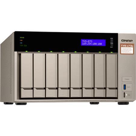 Qnap TVS-873e 8-Bay NAS Enclosure/iSCSI IP-SAN, AMD RX-421BD Quad-Core  2 1GHz, 4GB RAM