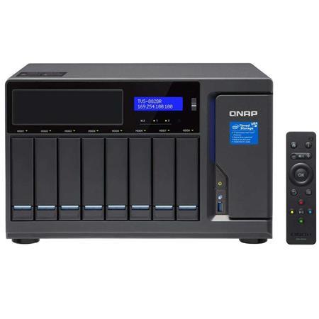 Qnap TVS-882BR 8-Bay Ultra-High Speed NAS Enclosure, Intel Core i7-7700  Quad-Core 3 6GHz, 32GB RAM