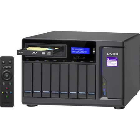Qnap TVS-882BRT3 8-Bay Ultra-High Speed Thunderbolt 3 NAS Enclosure,  Blue-Ray, Intel Core i7-7700 3 4GHz, 32GB RAM