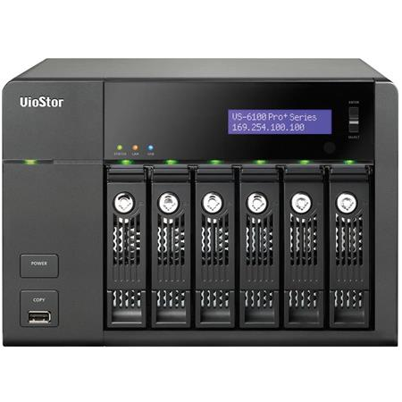 Qnap VioStor VS-6116 Pro+ 16-Channel 6-Bay Tower NVR for SMB Surveillance,  No HDD, 330Mbps Network Throughput, H 264, MPEG-4, M-JPEG, MxPEG