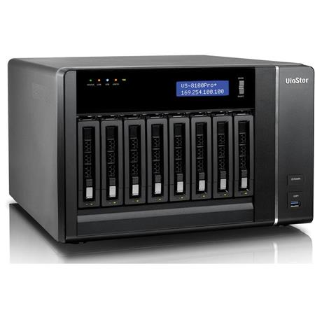 Qnap VioStor VS-8140 Pro+ 40-Channel 8-Bay Tower NVR for SMB Surveillance,  No HDD, 400Mbps Network Throughput, H 264, MPEG-4, M-JPEG, MxPEG