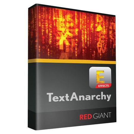 Red Giant Text Anarchy 2.4: Picture 1 regular