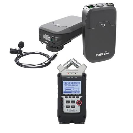 Rode Microphones RODELink Digital Wireless System W/Zoom H4n Pro Handy  Recorder