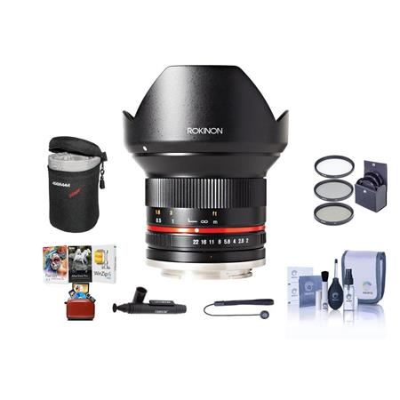 Rokinon 12mm f/2 0 NCS Lens for Micro Four Thirds Camera W/Free Mac Acc  Bundle