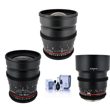 Rokinon T1 5 Cine Kit For Micro 4 3 Camera Bundle W 24mm