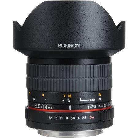 Rokinon 14mm f/2.8 IF ED UMC Super Wide Angle, Manual Focus Lens for Canon