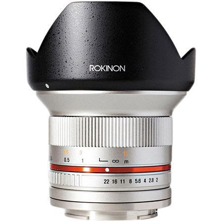 Rokinon 12mm F/2 0 Ultra Wide, Manual Focus Lens for Fujifilm X Mount,  Silver