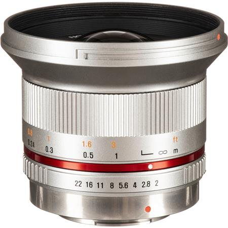 Rokinon 12mm F/2 0 Ultra Wide, Manual Focus Lens for Micro Four Thirds,  Silver