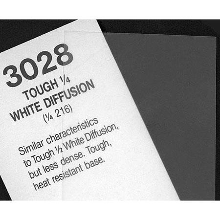 20x24 Sheet of Light Diffusing Material Rosco Roscolux 1//4 Tough White Diffusion
