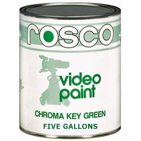 Rosco Chroma Key Matte Green Paint 5 Gallon 150057110640