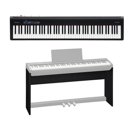 Roland Fp 30 Digital Piano Black With Roland Ksc 70 Custom Stand Fp 30 Bk B