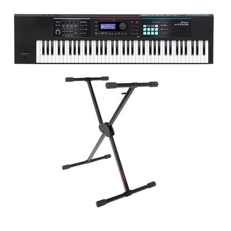 Roland JUNO-DS Series 76-Key Synthesizer - Bundle With KS-10X Single Brace  Keyboard X-Stand