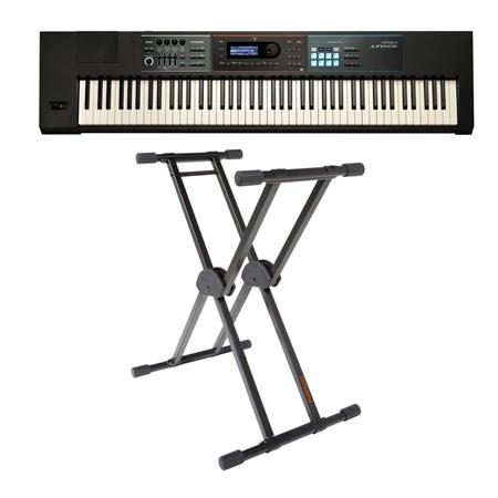 Roland JUNO-DS88 Gig-Ready 88-Note Keys Synthesizer W/ KS-20X DB Keyboard  Stand