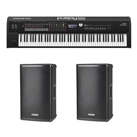 Roland RD-2000 Stage Piano + 2-Pk Fender Fortis 12