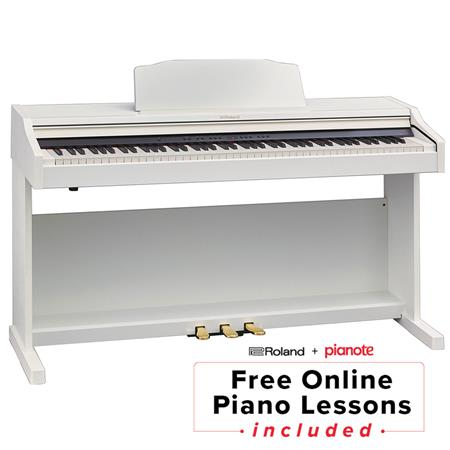 Roland RP-501R Digital Piano with Stand Bench Contemporary, Satin White