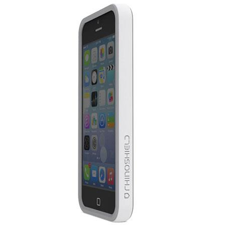 free shipping 5dc3a a61ad RhinoShield CrashGuard Bumper for iPhone 5/5s/SE, White AA0100104