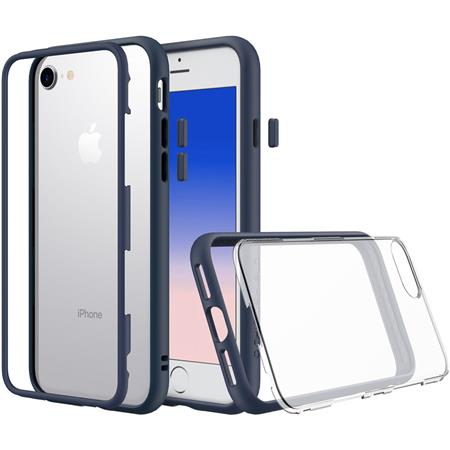 official photos a484a b2f19 RhinoShield MOD for iPhone 6/iPhone 6s - Modular Case with Rim, Button,  Frame, Clear Back Plate - Dark Blue
