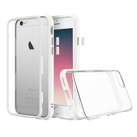 reputable site b88f2 7b73c RhinoShield MOD for iPhone 6/iPhone 6s - Modular Case with Rim, Button,  Frame, Clear Back Plate - White