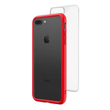 half off 8e97c b40d4 RhinoShield Mod NX Modular Case with Frame, Button, Rim, Clear Back Plate  for iPhone 7 Plus /8 Plus - Red