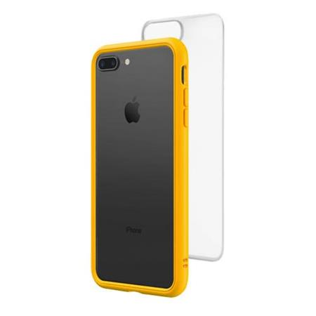 save off 92a98 fdbad RhinoShield Mod NX Modular Case with Frame, Button, Rim, Clear Back Plate  for iPhone 7 Plus /8 Plus - Yellow