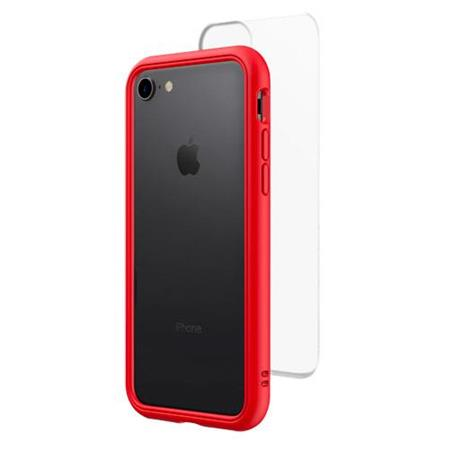 finest selection 1203c 3f2a4 RhinoShield Mod NX Modular Case with Frame, Button, Rim, Clear Back Plate  for iPhone 7/8 - Red