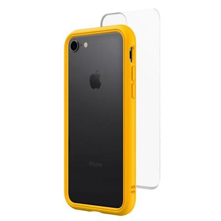 reputable site fc5e2 78f9d RhinoShield Mod NX Modular Case with Frame, Button, Rim, Clear Back Plate  for iPhone 7/8 - Yellow