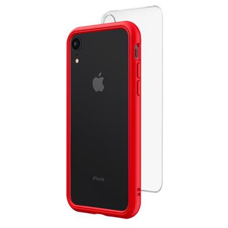 best service c1433 a3403 RhinoShield Mod NX Modular Case with Frame, Button, Rim, Clear Back Plate  for iPhone XR, Red