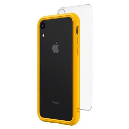 the latest 4d025 c4ece RhinoShield Mod NX Modular Case with Frame, Button, Rim, Clear Back Plate  for iPhone XR, Yellow