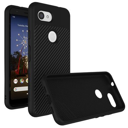 hot sale online 36515 7b1a1 RhinoShield SolidSuit Protective Case for Google Pixel 3a XL, Black/Carbon  Fiber