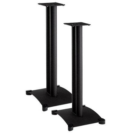 Sanus Systems SF26 Steel Foundations 26 Tall Speaker Stand For Medium To Large Bookshelf Speakers Pair