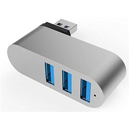 Sabrent Hb R3mc Premium 3 Port Aluminum Mini Usb 30 Rotatable Hub