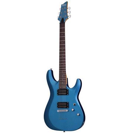 Schecter C 6 Deluxe Solid Body Electric Guitar Satin Metallic Light