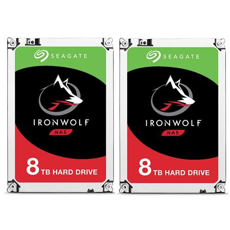 2-Pack Seagate IronWolf 3.5