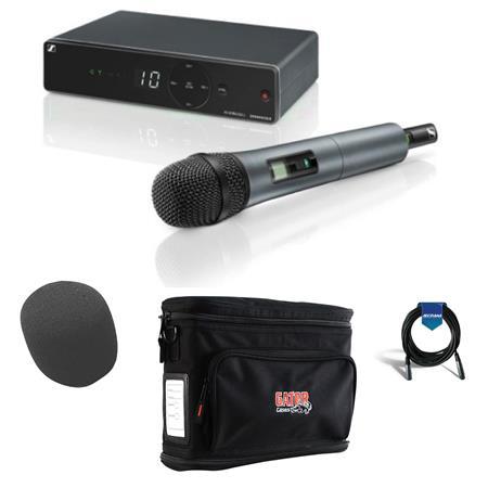 EM-XSW 1 Receiver Gator Bag Band A: 548-572MHz Bundle With 20 XLR Mic Cable MZQ 1 Mic Clip O-S Foam Windscreen Sennheiser XSW 1-835-A Wireless Vocal Set With SKM 835-XSW Handheld Transmitter