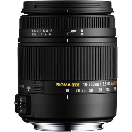 Sigma 18-250mm F3.5-6.3 Macro Lens for Nikon