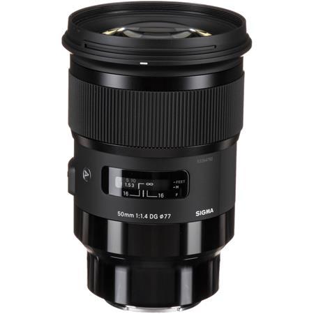 Sigma 50mm f/1 4 DG HSM ART Lens for Sony E-mount Cameras, Black