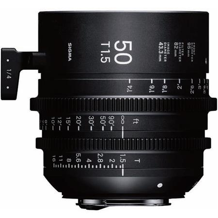 Sigma T1 5 Cine 50mm Full Frame High Speed Prime Lens with Canon EF Mount,  1' Close Focus Distance