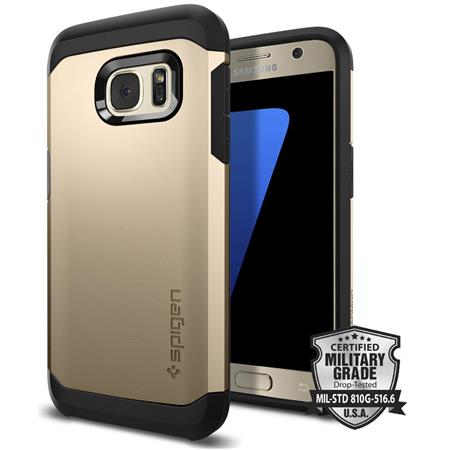 separation shoes 97901 2c841 Spigen Tough Armor Case for Samsung Galaxy S7 Smartphone, Champagne Gold