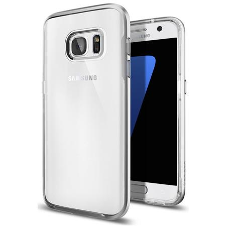 various colors 8828c 523a8 Spigen Neo Hybrid Crystal Case for Samsung Galaxy S7, Satin Silver