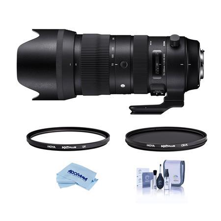 Sigma 70-200mm f/2 8 DG HSM TP Zoom Lens For Sigma W/Hoya 82mm UV/CPL Filter