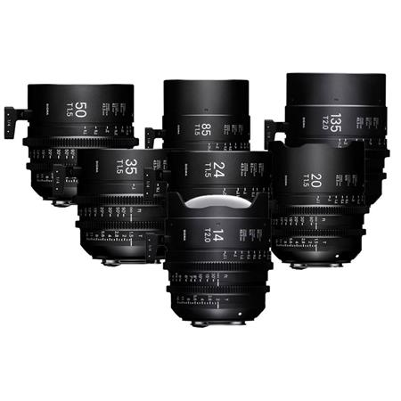 Sigma FF High Speed Prime Cine 7 Lens Kit, Metric, Canon EF