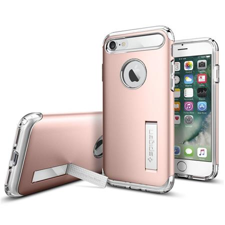 new product b37d4 a4c70 Spigen Slim Armor Case for iPhone 7, Rose Gold
