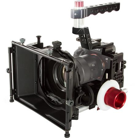 Shape Cinema Kit for Sony a7S II, a7R II and a7 II Camera, Includes Cage,  2x 15mm Rod System, Matte box 4x4 and Friction and Gear Follow-Focus Clic