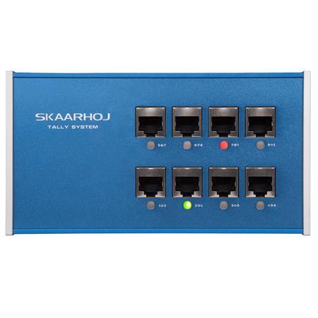 Skaarhoj 8 Ch Tally Box V2 For Blackmagic Design Atem Switcher Vmix Software Eth Tally Link V2