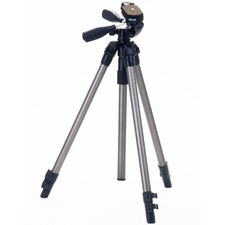 "44% Off Slik Pro 330DX Tripod Silver with 3-Way Pan/Tilt Quick Release Head (Height 18.5-63"", Maximum Load 6.6 lbs)"