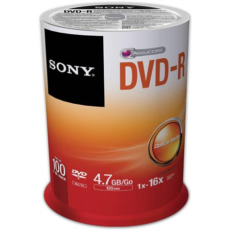 Sony 16X DVD-R Spindle Discs